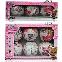 3pcs 6pcs Boneca Surpresa Dress Up Toys Surprise Eggs Action Figure Toys LOL Suprise Dolls Magic