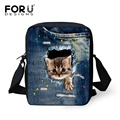 Children Girls Messenger Bags Cute Mini Denim Pet Cat Print Fashion Small Crossbody Bag Kids Animal Casual Shoulder Bags Mochila