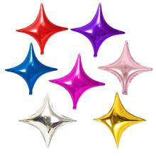 50pcs/lot 10inch Four-pointed Star Aluminum Balloon for Birthday Wedding Party Decorations Christmas Balloons Supply