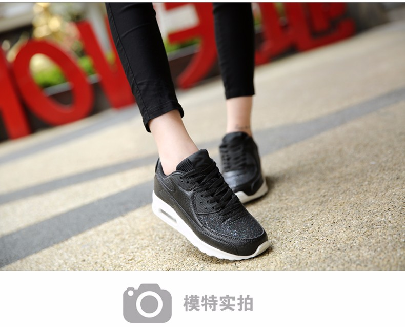 Fashion KUYUPP Wedges Women Trainers Breathable Sport Sequined Cloth Casual Shoes Outdoor Walking Shoes Zapatillas Mujer YD36 (11)