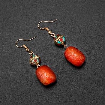 51b739a13ad5 Shuangsheng nuevo vintage pendientes de la India y el Pakistán vintage y  cuentas de piedra natural joyería de la gota regalo de las mujeres