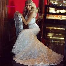 LEIYINXIANG vintage 2019 Mermaid Wedding Dress with Lace Applique Court Train long robe de mariee vestido novia sirena Custom