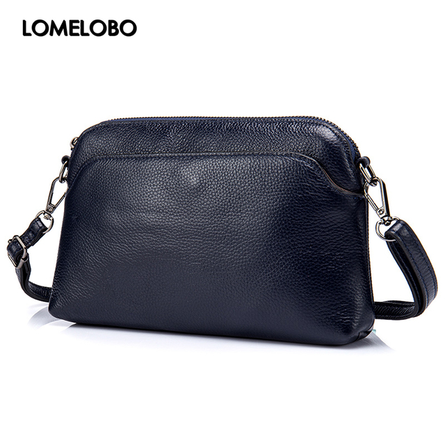 823465bf0a80 Lomelobo Girls Small Summer Hobo Bag Simple Female Genuine Leather Shoulder  Crossbody Handbag Designer Women Clutch Bags HBL6113