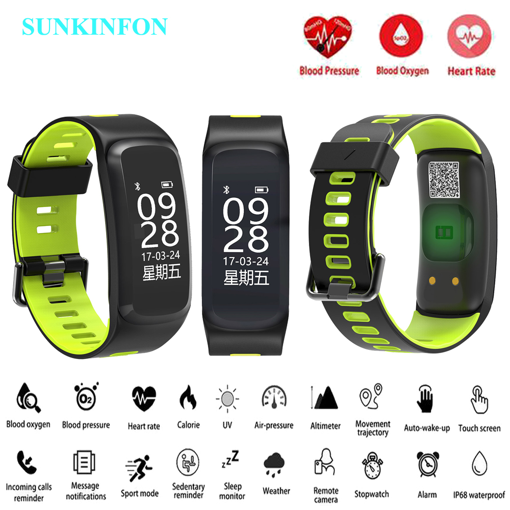 купить SKF F9 Smart Watch Bracelet Blood Pressure Blood Oxygen Heart Rate Monitor Fitness Tracker Smart Wristband for iPhone X 8 Plus по цене 5049.49 рублей