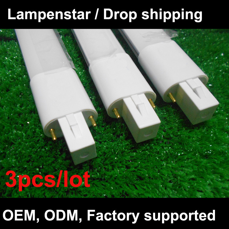 Lampada led G23 base 2-pin PLC 220V 4W 6W 8W pl-s 18SMD 2835 Bianco Freddo Light warm white/Natural white/Cold white 3pcs/lot