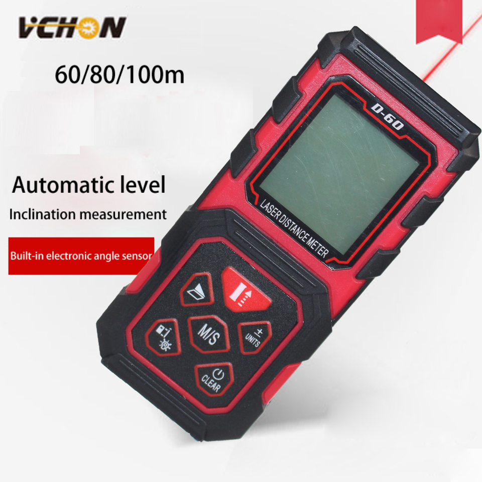 Vchon Открытый 60 м 80 м 100 м ручной лазерный дальномер Рулетка лазерной telemetre Гольф дальномеры дальномер для охоты
