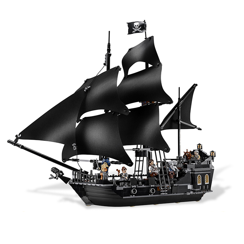 Compatible with Lego pirates of the caribbean 4184 16006 804pcs The Black Pearl building blocks bricks toys for children waz compatible legoe pirates of the caribbean 4184 lepin 16006 804pcs the black pearl building blocks bricks toys for children