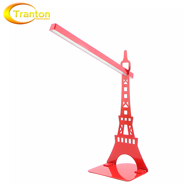 Touch Dimmer USB Led Desk Lamp And Bookshelf Table Lamps Modern Eiffel Tower Reading For