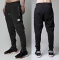 Yeezus KANYE West Mens Jogger Dança Sportwear Calças compridas zipper Ocasional Do Vintage