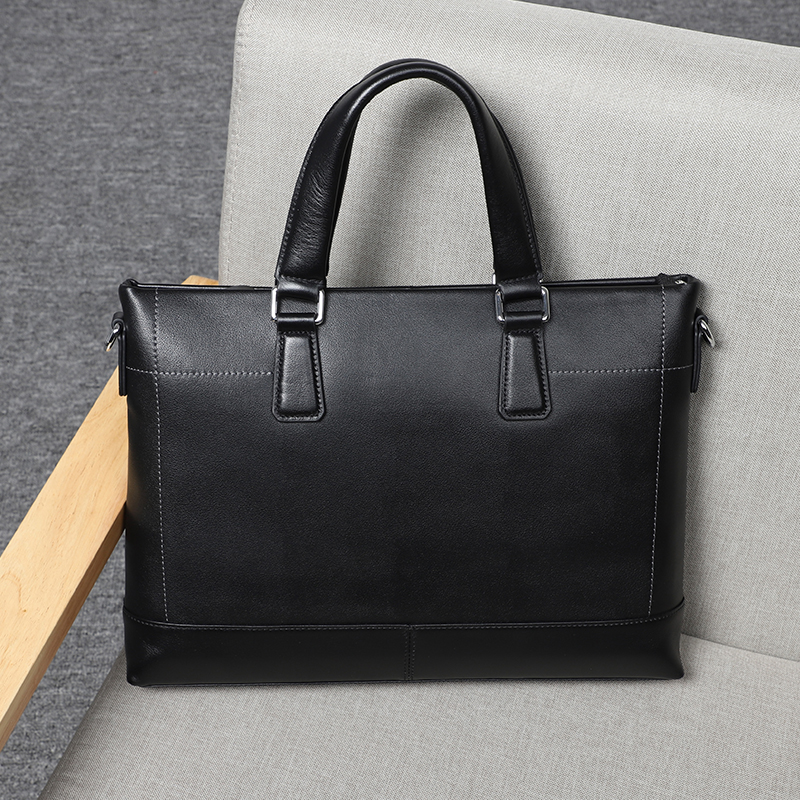 Véritable porte-documents en cuir véritable hommes sac à main pour ordinateur portable hommes Document sac mâle Messenger sacs d'affaires sacoche pour ordinateur portable pour hommes sac - 6