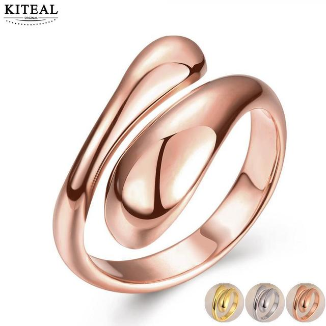 Kiteal Silver/gold /rose gold color resizable ring forever love for women weddin