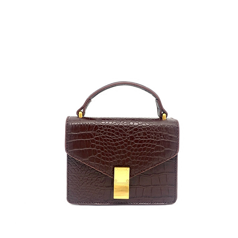 Our ReALIty 1 Crocodile Con first laywer genuine Leather Women Handbag square lock Office Lady Crossbody Bag EGT0124 augmented reality navigation