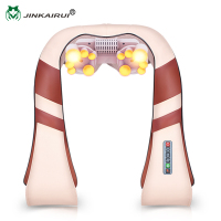 JinKaiRui U Shape Electrical Shiatsu Back Neck Shoulder Massager Body Spa Infrared 4D Kneading Massagem Car