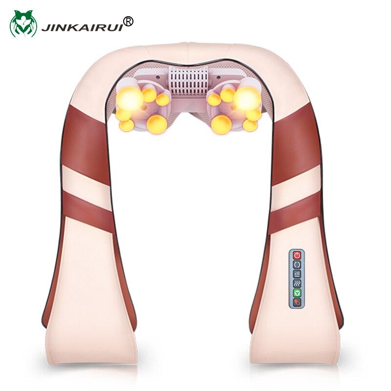 JinKaiRui U Shape Elettrico Shiatsu Collo Schiena Spalla Massaggiatore Corpo Spa A Raggi Infrarossi 4D impastare Massagem Auto/Uso Domestico