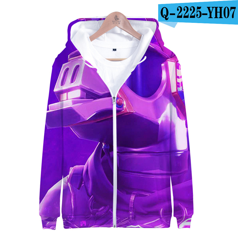 Zipper Fortnited Battle Royale Hoodie Oversize Moletons 2019 Women Clothes Men Funny Children Clothing Fortnight Streetwear Price $21.98
