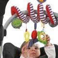 Милые Детские Babyplay Активности Спираль Кровать и Коляска Игрушка Набор Висит Колокол Кроватки Rattle Toys For Baby Дети