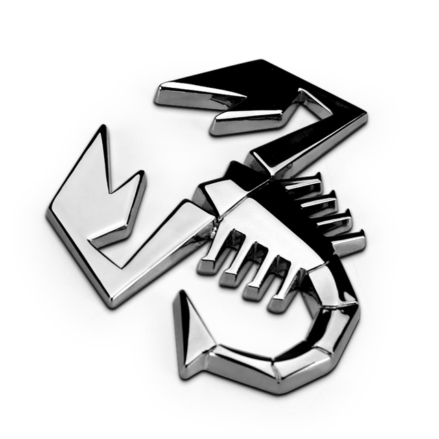 Abarth Scorpion Scorpid Chrome Silver Zinc Alloy Car Styling Emblem