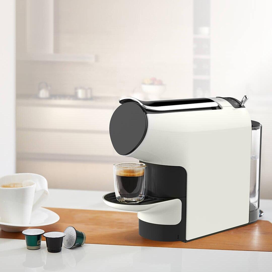 Scishare Capsule Coffee Machine Coffee Maker 19 Bar 580ml Ajustable 9 Level Concentration Family Office Using xiaomi scishare capsule espresso coffee machine