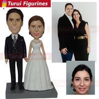 Bobblehead Customizer china artist custom made wedding cake topper from bride & groom photos wedding decorations home decor doll