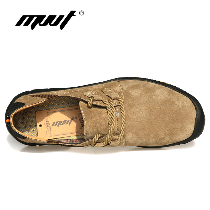 MVVT Comfort casual shoes men flats suede leather men loafers shoes - Men's Shoes - Photo 5