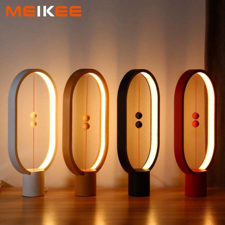 Creativo Heng equilibrio lámpara LED noche luz USB de la decoración del hogar de la noche, lámpara de mesa lámpara de cabecera de dormir luz para navidad niños bebé