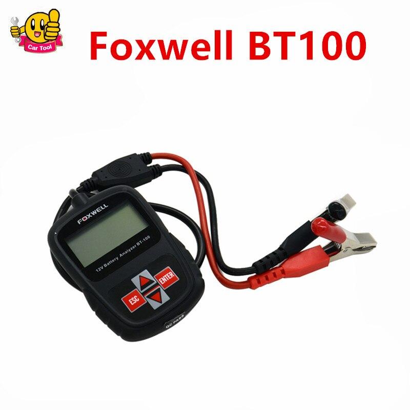 ФОТО 2016 Newest FOXWELL BT100 12V Car Battery Tester for Flooded, AGM, GEL BT 100 12 Volt Battery Analyzer Free Shipping