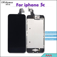 5PCS Black LCD Full Assembly For IPhone 5c Touch Screen Digitizer Display Replacement Home Button Front