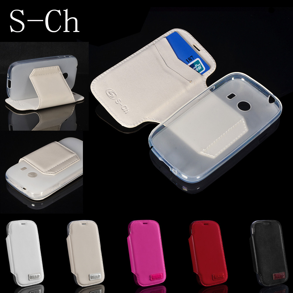For <font><b>Samsung</b></font> Galaxy Ace Style <font><b>G310</b></font> G310HN Flip PU Leather For <font><b>Samsung</b></font> Galaxy Core Max G5108 Cover With Stand Card Back Case image