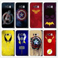 e9b8b512fd5 Marvel Superheroes Batman SpiderMan Iron man Deadpool hard phone Cover case For  Samsung Galaxy S8 S9 PLUS NOTE 8 9 Fundas Coque