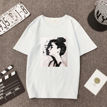 2019 New Summer Female T-shirt For Women Printed Black White T-shirt With Print Woman Plus Size Fashionable T-shirts Tee