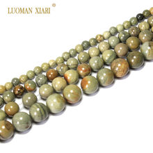 8e27748c2a73 AAA + hoja de plata Jasper piedra Natural del Jade para la joyería que hace  DIY pulsera collar Material 4 6  8 10mm Strand 15