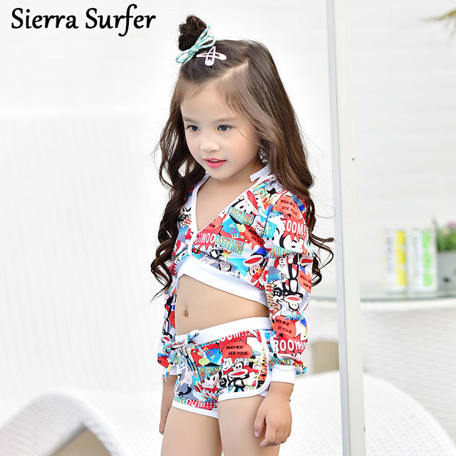 3d3825d369 Child Bikini Girls Swimwear Tankini Children's Baby Bathing Suits For New 2018  Children Suit Medium Sized