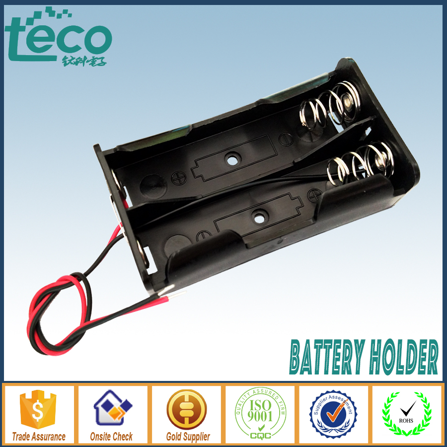 Batteries Storage Box Battery Holder For 4 PCS 18650 Batteries With Wire Le~ES