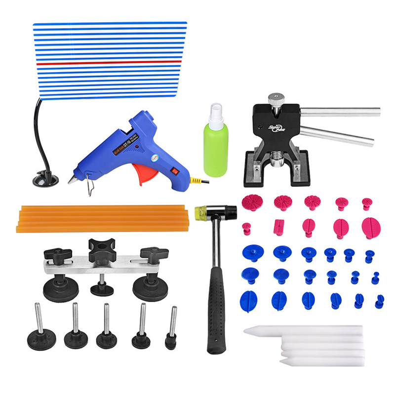 PDR Tools Car Repair Tool Set Car Body Repair Kit Auto Repair Tool Reflector Board Dent Puller Kit Mini Lifter Suction Cups 46pcs 1 4 inch high quality socket set car repair tool ratchet set torque wrench combination bit a set of keys chrome vanadium