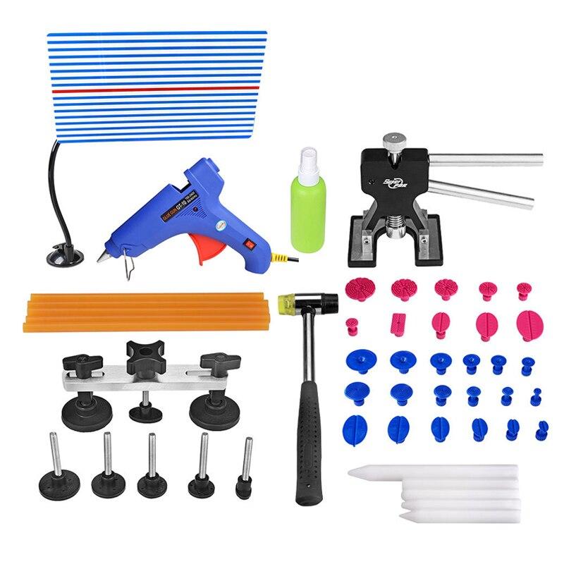 ФОТО PDR Tools For Car Kit Dent Removal Paintless Dent Repair Tools Refletor Board Dent Lifter Pulling Bridge Hand Tools Set