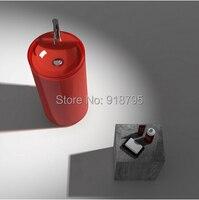 Free Shipping Advanced Resin Vessel Sinks Wash Basin Bathroom Pedestal Sink RS38236 1