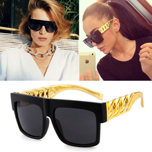 Fashion Gold Chain Kim Kardashian Beyonce Sunglasses Women Men Vintage Celebrity Hip Hop Sun Glasses Gafas De Sol UV400 Eyewears