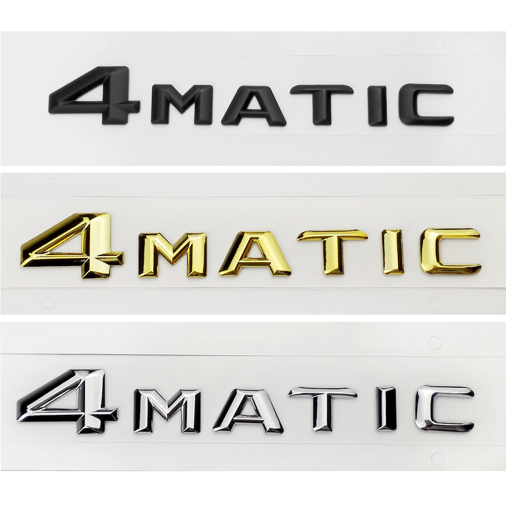 Oto dekorasyon arka amblemi Mercedes 4Matic CLK CLA GLE W205 W204 W211 W124 AMG çamurluk gövde Sticker için benz A sınıfı ML SL