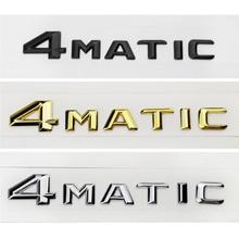 Auto Decoration Rear Emblem for Mercedes 4Matic CLK CLA GLE W205 W204 W211 W124 AMG Fender Trunk Sticker For Benz Class A ML SL