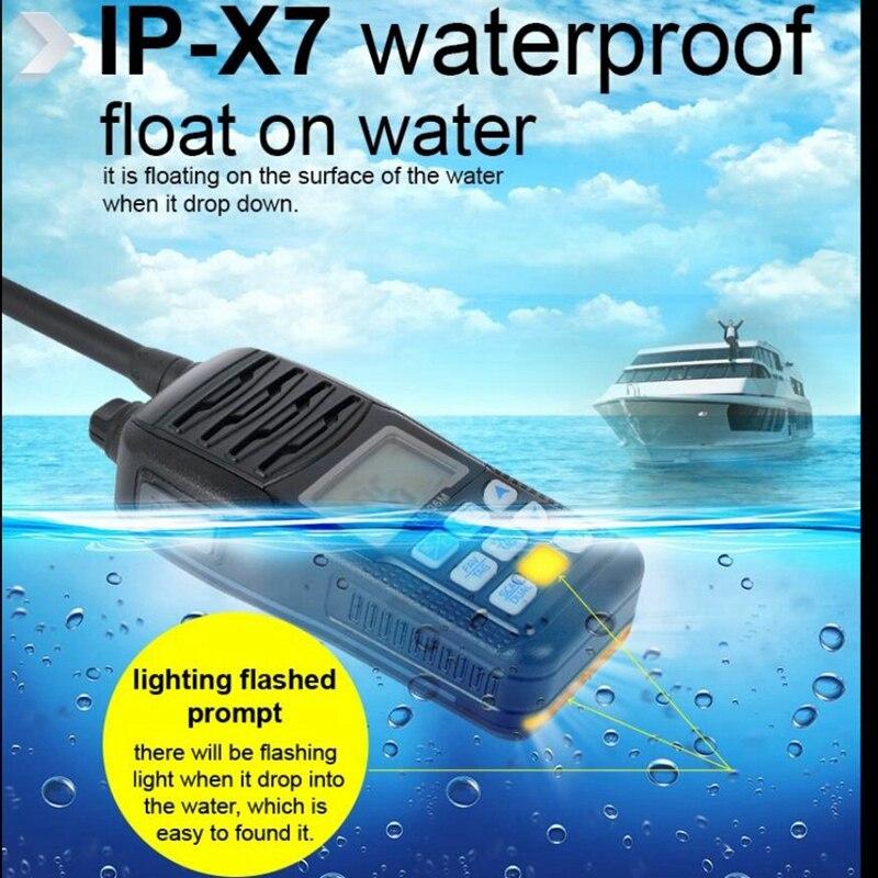 Marine talkie walkie Récente RS-36M VHF spécial pour utiliser dans le vaisseau FM radio Étanche IP67 interphone d'urgence Émetteur-Récepteur