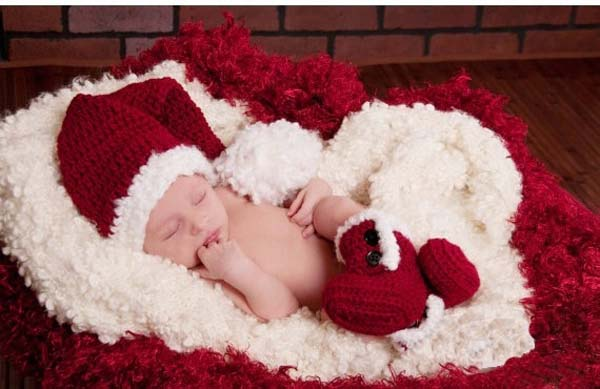 elf pixie handmade costume set babycrochet hats capsshoes newborn girl boy christmas photography props for 0 3 months in hats caps from mother kids on