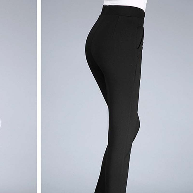 Middle and old aged women's pants mother loaded straight pants autumn and winter trousers PXOS49XSJ