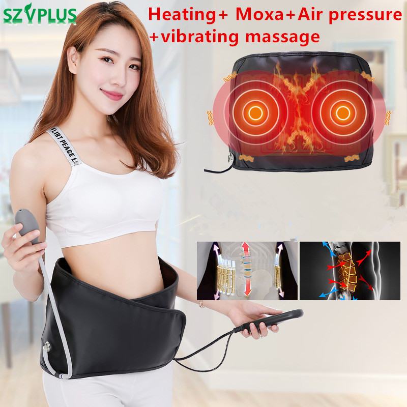 Multi-function Electric Air Compression Massager for waist Leg blood Circulation heating vibrating moxa moxibustion Massager цена