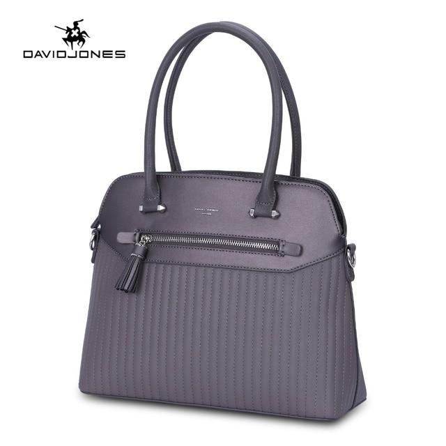 aae51c6451b9 DAVIDJONES women handbags faux leather female shoulder bags big lady  striped messenger bag girl brand tote bag free shipping