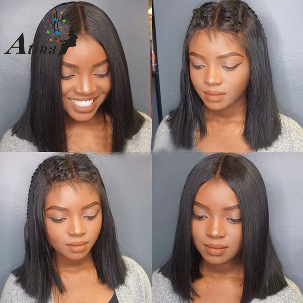 Lace Wigs Curly Human Hair Lace Wigs 180% Density Short Bob Lace Front Human Hair Wigs Peruvian Wig Short Wig Full Ends Aimu Hair Remy