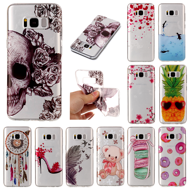 "Pro Samsung Galaxy S 8 Plus G9 S8 + 6,2 ""transparentní silikonové pouzdro Animal Anime Soft TPU Skin zadní kryt pouzdro pro Samsung S8 Plus"