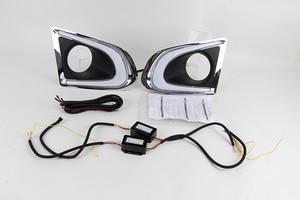 Image 2 - Car Flashing 2PCS DRL For Chevrolet Chevy TRAX 2014 2015 2016 Daytime Running Lights fog lamp cover 12V Daylight