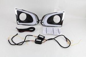 Image 2 - 시보레 시보레 TRAX 2014 2015 2016 주간 러닝 라이트 안개 램프 커버 12V 일광 2PCS DRL 깜박이 자동차