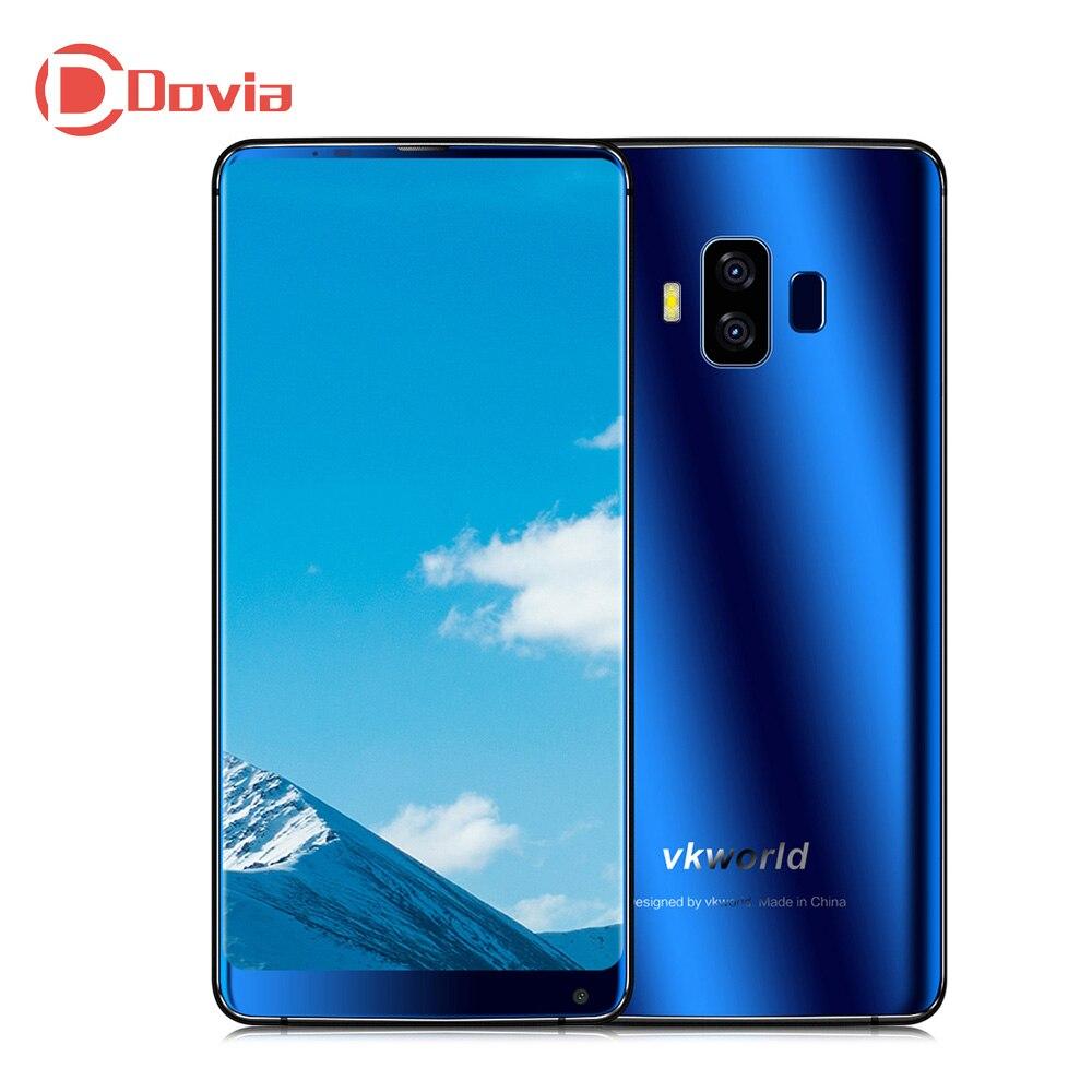 VKworld S8 4G Smartphone 5.99 pollice Android 7.0 MTK6750T Octa Core 4 GB + 64 GB 5500 mAh 16.0MP + 5.0MP Posteriore Dual Telecamere Face ID Del Telefono