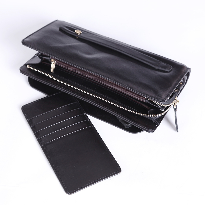 ФОТО MISFITS Vintage Men's Genuine Leather Wallet Male Retro Cowhide Purse Gift Box Package Large Capacity Business Clutch MZ4012